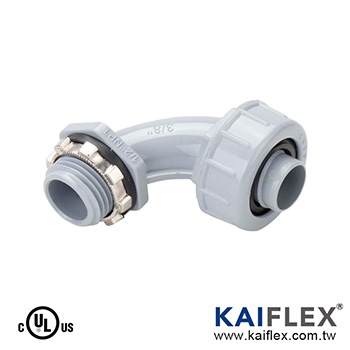Liquid Tight Non-Metallic Flexible Conduit Fitting, 90 Degree Elbow